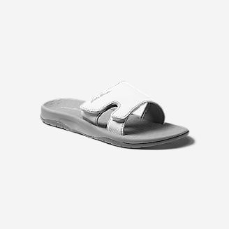 Women's Break Point Slide Sandal in White