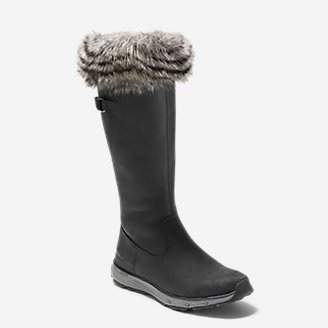 Women's Lodge Fur Boot in Black