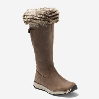 Women's Lodge Fur Boot in Brown
