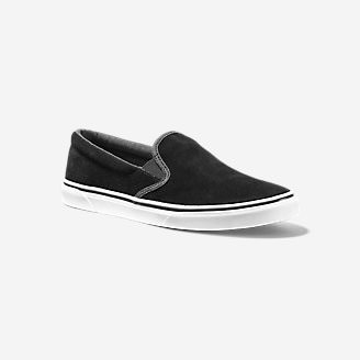 Women's Haller Leather Slip-On in Black