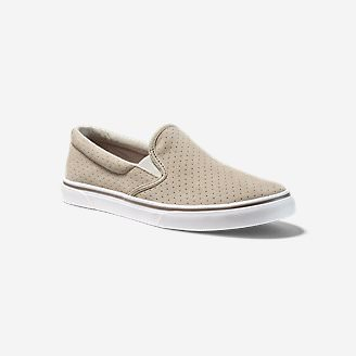 Women's Haller Leather Slip-On in Beige