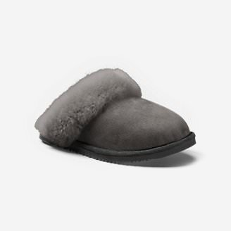 Women's Eddie Bauer Shearling Scuff Slipper in Gray