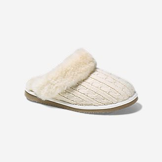 Women's Eddie Bauer Shearling Scuff Slipper in White