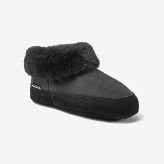 Women's Shearling Boot Slipper in Black