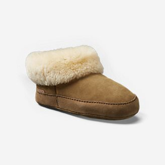 Women's Shearling Boot Slipper in White