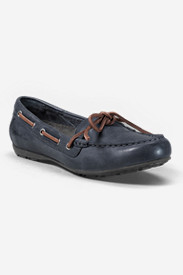 Women's Eddie Bauer Leather Moc in Blue