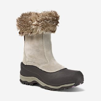 Women's Eddie Bauer Snowfoil Zip Boot in Beige