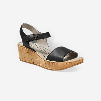 Women's Eddie Bauer Kara Wedge Sandal in Black
