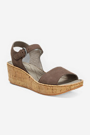 Women's Eddie Bauer Kara Wedge Sandal in Brown