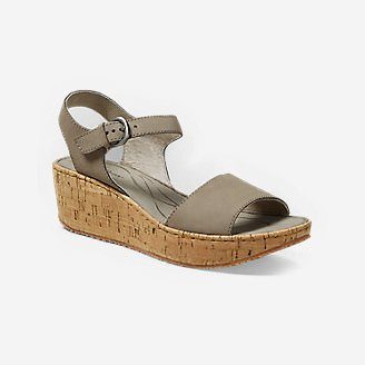 Women's Eddie Bauer Kara Wedge Sandal in Beige