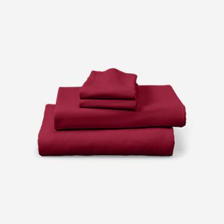 Portuguese Flannel Sheet Set - Solid in Red