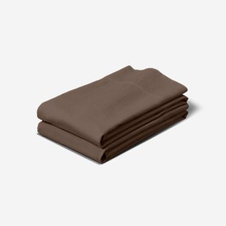 Flannel Pillowcase Set - Solid in Brown