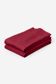 Flannel Pillowcase Set - Solid in Red