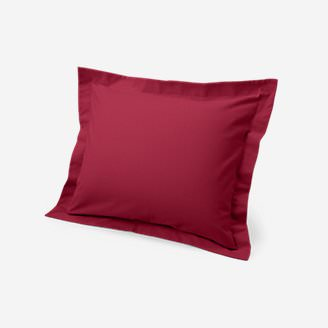 Flannel Pillow Sham - Solid in Red