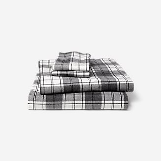 Portuguese Flannel Sheet Set - Plaids & Heathers in Gray