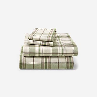 Portuguese Flannel Sheet Set - Plaids & Heathers in White