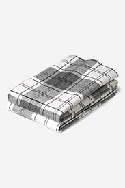 Flannel Pillowcase Set - Pattern in Gray
