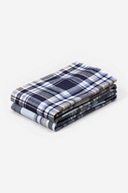 Flannel Pillowcase Set - Pattern in Blue