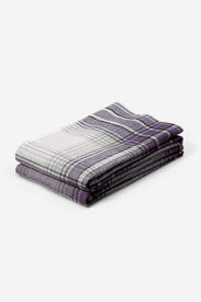 Flannel Pillowcase Set - Pattern in Purple