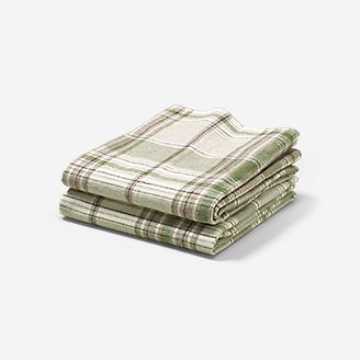Flannel Pillowcase Set - Pattern in White