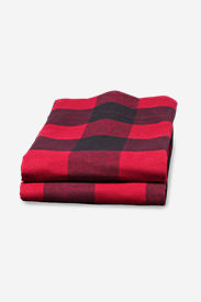 Flannel Pillowcase Set - Pattern in Red