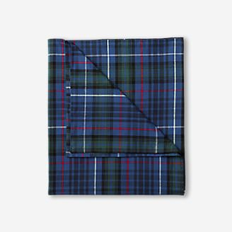 Flannel Duvet Cover - Pattern in Blue