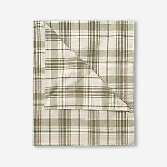 Flannel Duvet Cover - Pattern in White