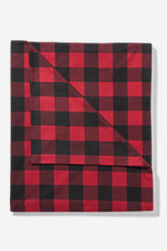 Flannel Duvet Cover - Pattern in Red
