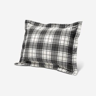 Flannel Pillow Sham - Pattern in Gray