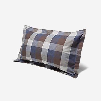 Flannel Pillow Sham - Pattern in Brown