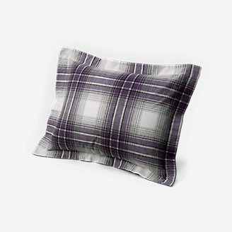 Flannel Pillow Sham - Pattern in Purple