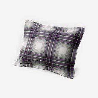 Flannel Pillow Sham - Pattern in Purple