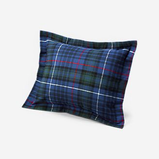 Flannel Pillow Sham - Pattern in Blue