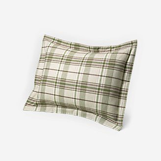 Flannel Pillow Sham - Pattern in White