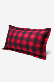 Flannel Pillow Sham - Pattern in Red