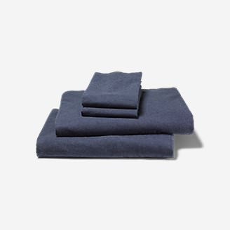 Flannel Sheet Set - Heather in Blue