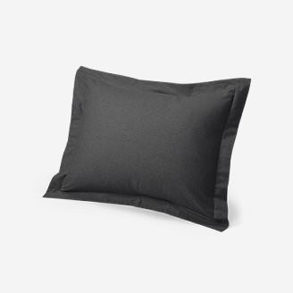 Flannel Pillow Sham - Heather in Black