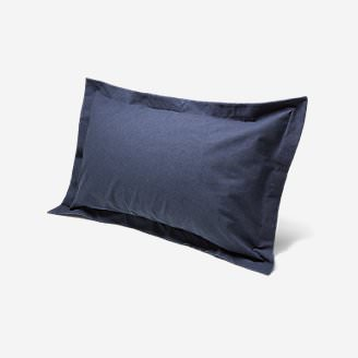 Flannel Pillow Sham - Heather in Blue