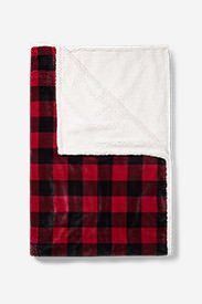 Cabin Fleece Blanket in Red