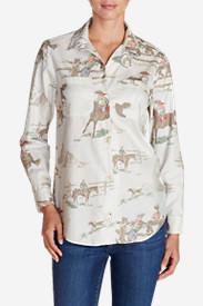 Women's Ilaria Northwest Boyfriend Flannel Shirt in White