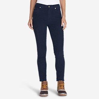 Women's Ilaria Cape Flattery Skinny Cord Pants in Blue
