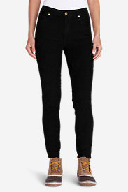 Women's Ilaria Cape Flattery Skinny Cord Pants in Black