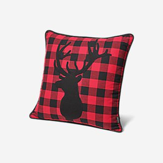 Stag Decorative Pillow in Red