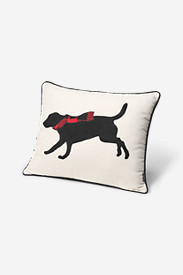 Lab With Scarf Decorative Pillow in Black