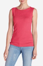 Women's Favorite Sleeveless Bateau Top in Pink