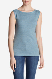 Women's Favorite Sleeveless Bateau Top in Blue