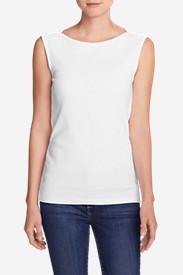 Women's Favorite Sleeveless Bateau Top in White