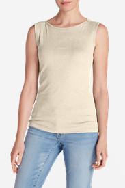Women's Favorite Sleeveless Bateau Top in Beige