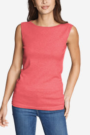 Women's Favorite Sleeveless Bateau Top in Orange