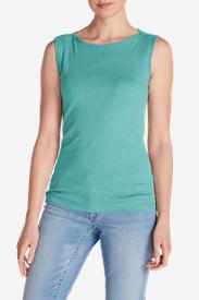 Women's Favorite Sleeveless Bateau Top in Green
